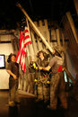 Raising the Flag at Ground Zero Wax Figures Stock Images