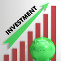 Raising investment chart shows progression and success Royalty Free Stock Photos