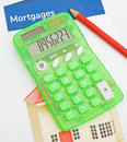 Raising mortgage funds. Stock Image