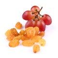 Raisins with grapes Royalty Free Stock Photo