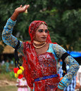 Rajasthani female dance Stock Image