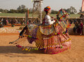 A rajasthani folk atris performing Royalty Free Stock Image