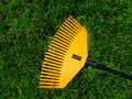 Rake the grass Stock Photo