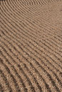 Raked gravel background Stock Image