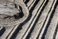 Raked gravel in a Zen garden, Kyoto Stock Photography