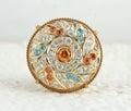 Rakhdi indian royal jewelry borla Royalty Free Stock Images