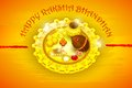 Rakhi pooja thali for raksha bandhan vector illustration of Stock Photos