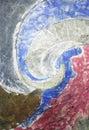 Raku texture Royalty Free Stock Photo