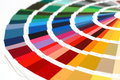 RAL sample colors catalogue Royalty Free Stock Photo