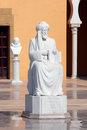 Ralli museum recanati in caesarea israel july maimonides rambam rabbi moshe ben maimon statue at the on july it s an art Royalty Free Stock Photography