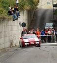 Rally car drifting Stock Images
