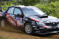 Rally car during race Royalty Free Stock Photo