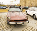 Rally of classical cars moscow datsun april on poklonnaya hill april in town russia Stock Photos