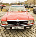 Rally of classical cars moscow mercedes benz april on poklonnaya hill april in town russia Royalty Free Stock Photo