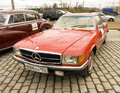 Rally of classical cars moscow mercedes benz april on poklonnaya hill april in town russia Stock Photography
