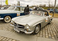 Rally of classical cars moscow mercedes benz april on poklonnaya hill april in town russia Stock Images