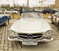 Rally of classical cars moscow mercedes benz april on poklonnaya hill april in town russia Royalty Free Stock Image