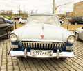 Rally of classical cars moscow volga gas april on poklonnaya hill april in town russia russia Royalty Free Stock Images