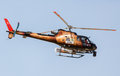 Rally Dakar 2013 Helicopter Stock Photo