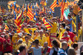 Rally demanding independence for catalonia barcelona spain september national day of in barcelona Stock Photography
