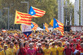 Rally demanding independence for catalonia barcelona spain september national day of in barcelona spain Stock Photography
