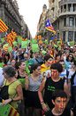 Rally for the independence of Catalonia Royalty Free Stock Photography