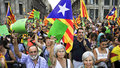 Rally for the independence of Catalonia Stock Photo