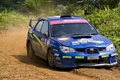 Rally motorcar racing Royalty Free Stock Image