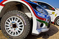 Rally race cars parked Stock Images
