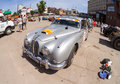 Rally of retro cars samara russia june peking paris june in samara russia jaguar mkii year Stock Photography
