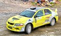 Rally southern ural bakal russia july andrey smirnov s mitsubishi lancer evo ix no competes at the annual on july in bakal satka Stock Photography