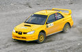 Rally southern ural bakal russia july grigoriy tregubov s subaru impreza no competes at the annual on july in bakal satka district Stock Photos