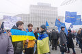 Rally in support of european integration ukraine kiev Royalty Free Stock Photography