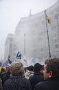 Rally in support of european integration ukraine kiev Royalty Free Stock Photo