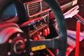 Rallye car cockpit Royalty Free Stock Photo