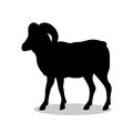 Ram farm mammal black silhouette animal
