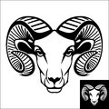 Ram head logo or icon Royalty Free Stock Photo