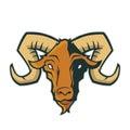 Ram head mascot Royalty Free Stock Photo