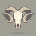 Ram head mascot