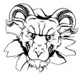 Ram mascot breakthrough Royalty Free Stock Photo