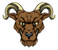 Ram mascot head illustration of a tough sports or character Royalty Free Stock Photography