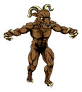 Ram monster mascot an illustration of a sports character standing with claws out Stock Photos