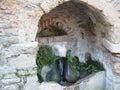 Ram's head fountain - Kesariani Monastery - Athens Royalty Free Stock Photo