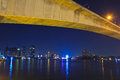 Rama iii bridge or new krungthep in bangkok of thailand Royalty Free Stock Image
