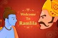 Rama killing Ravana in Happy Dussehra