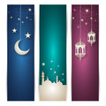 Ramadan banners set of elegant illustration Stock Image