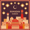 Ramadan greeting card brown