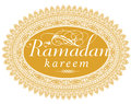 'Ramadan Greeting' vector seal Royalty Free Stock Photo