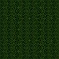 Ramadan Islam circle green symmetry seamless pattern Royalty Free Stock Photo