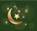 Ramadan islamic background in green and gold Royalty Free Stock Images